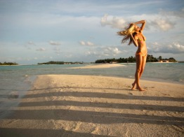On location in the Maldives for the Sports Illustrated Swimsuit Issue 2010