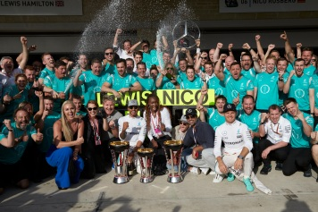 Formel 1 - MERCEDES AMG PETRONAS, Großer Preis der USA 2016. Lewis Hamilton, Nico Rosberg ; Formula One - MERCEDES AMG PETRONAS, United States GP 2016. Lewis Hamilton, Nico Rosberg;