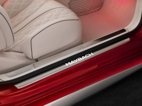 Mercedes-Maybach S 650 Cabriolet, Interior, Maybach Schriftzug ;Kraftstoffverbrauch kombiniert: 12,0 l/100 km; CO2-Emissionen kombiniert: 272 g/km Mercedes-Maybach S 650 Cabriolet, interior, Maybach lettering; Fuel consumption combined: 12,0 l/100 km; Combined CO2 emissions: 272 g/km