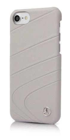 Echtes Leder Hardcover Kristallgrau ; Real leather hard case crystal grey;