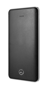 Mobile Powerbank: 10,000 mAh Lithium-Polymer-Akku, 4 LED Ladezustand Anzeiger, schnelle USB-Anschluss, LED Taschenlampe. ; Portable battery charger: 10,000 mAh, Lithium-polymer, 4 LEDS charge indicator, Rapid-charging USB port, LED flashlight.;
